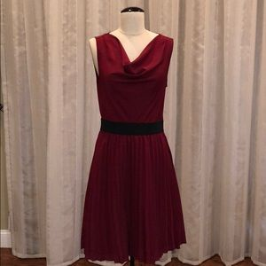 The Limited,  Pleat Skirt Cowl  Neck Dress